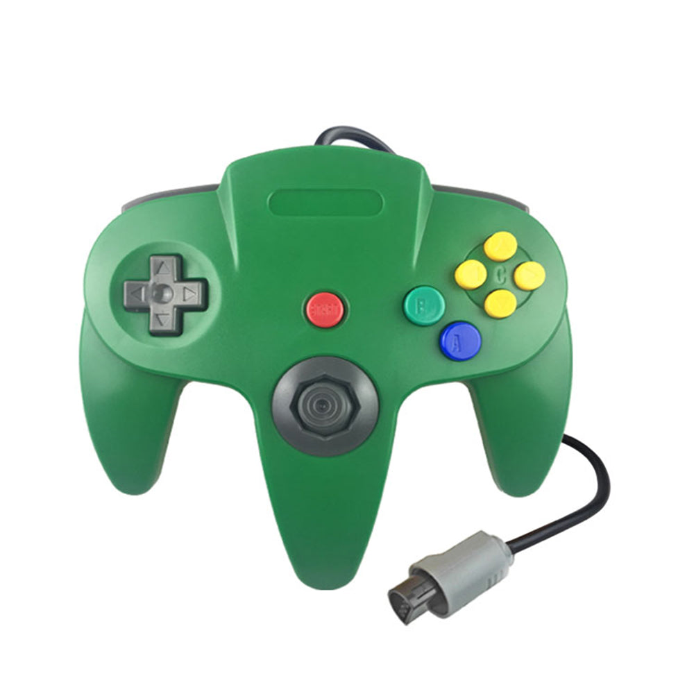 Family 4 Pack 1.8m/6FT Nintendo Retro N64 Controllers, Red, Yellow, Black, White, Green 3