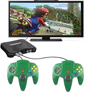 Family 4 Pack 1.8m/6FT Nintendo Retro N64 Controllers, Red, Yellow, Black, White, Green 24