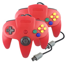 Load image into Gallery viewer, Family 4 Pack 1.8m/6FT Nintendo Retro N64 Controllers, Red, Yellow, Black, White, Green 2