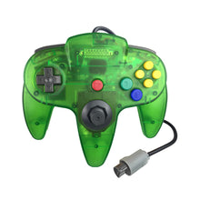 Load image into Gallery viewer, 2 Pack N64 1.8m/6FT Controllers for Retro Nintendo Gaming - Clear Green 3