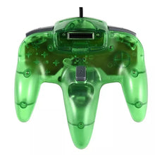 Load image into Gallery viewer, 2 Pack N64 1.8m/6FT Controllers for Retro Nintendo Gaming - Clear Green 4