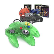 Load image into Gallery viewer, 2 Pack N64 1.8m/6FT Controllers for Retro Nintendo Gaming - Clear Green 6