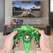 Load image into Gallery viewer, 2 Pack N64 1.8m/6FT Controllers for Retro Nintendo Gaming - Clear Green 7