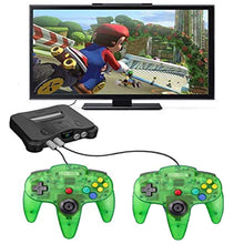 Load image into Gallery viewer, 2 Pack N64 1.8m/6FT Controllers for Retro Nintendo Gaming - Clear Green 8