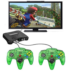 2 Pack N64 1.8m/6FT Controllers for Retro Nintendo Gaming - Clear Green 8