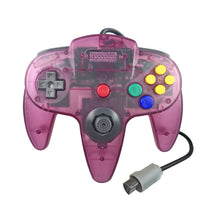 Load image into Gallery viewer, 2 Pack N64 1.8m/6FT Controllers for Retro Nintendo Gaming - Clear Purple 2