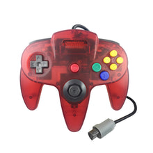 Load image into Gallery viewer, 2 Pack N64 1.8m/6FT Controllers for Retro Nintendo Gaming - Clear Red 3