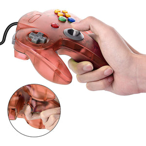 2 Pack N64 1.8m/6FT Controllers for Retro Nintendo Gaming - Clear Red 5