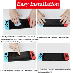 [2 Pack] Tempered Glass Screen Protector for Nintendo Switch 2017 2