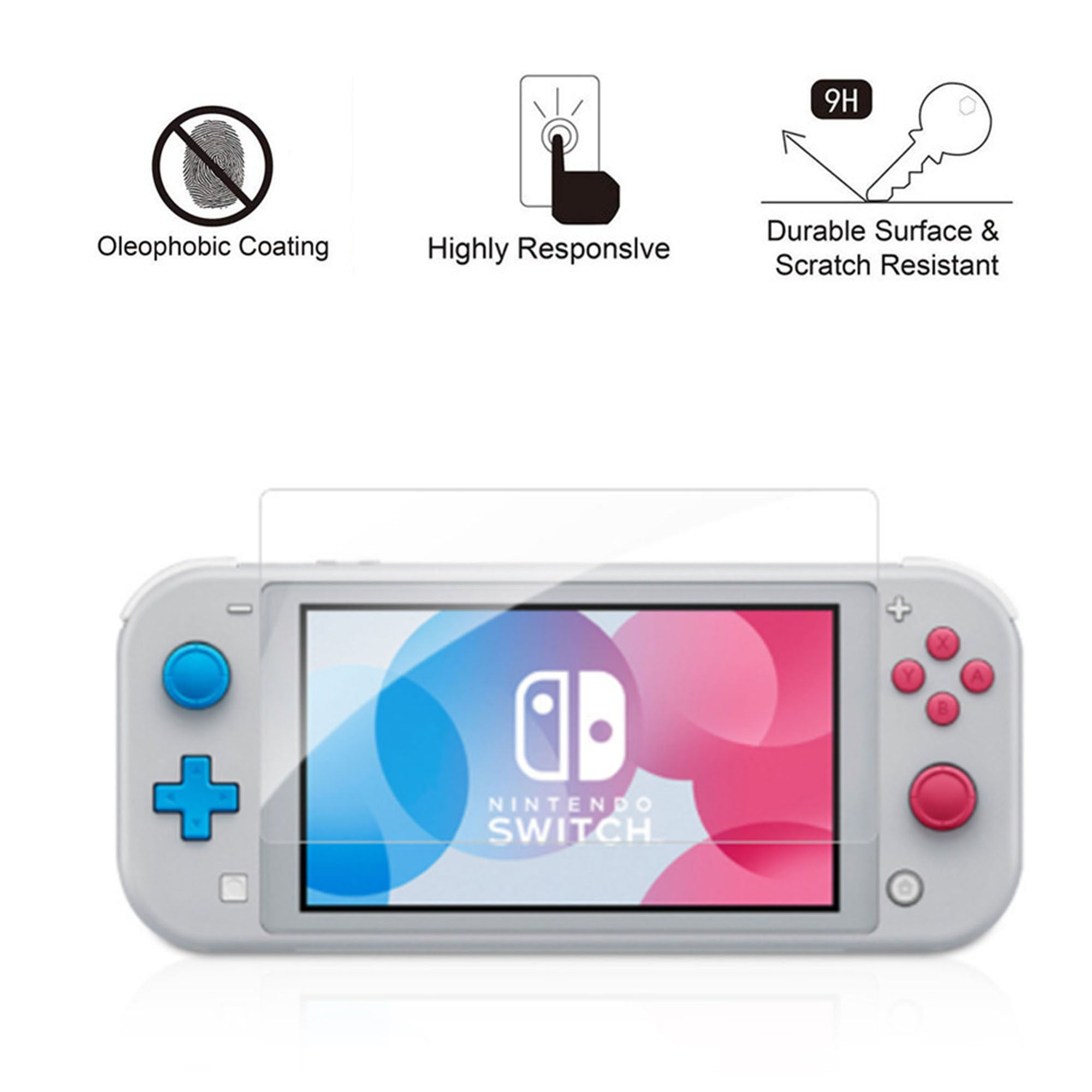 [2 Pack] Tempered Glass Screen Protector for Nintendo Switch Lite 0