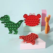將圖片載入圖庫檢視器 4 Pack T Rex Dinosaur Lobster Pop It Fidget Bubble Sensory Stress Toy for Anxiety Relief Educational Toys for Special Needs Kids and Family, Perfect Sensory Fidget for Autistic, ADHD, Autism to Help Focus