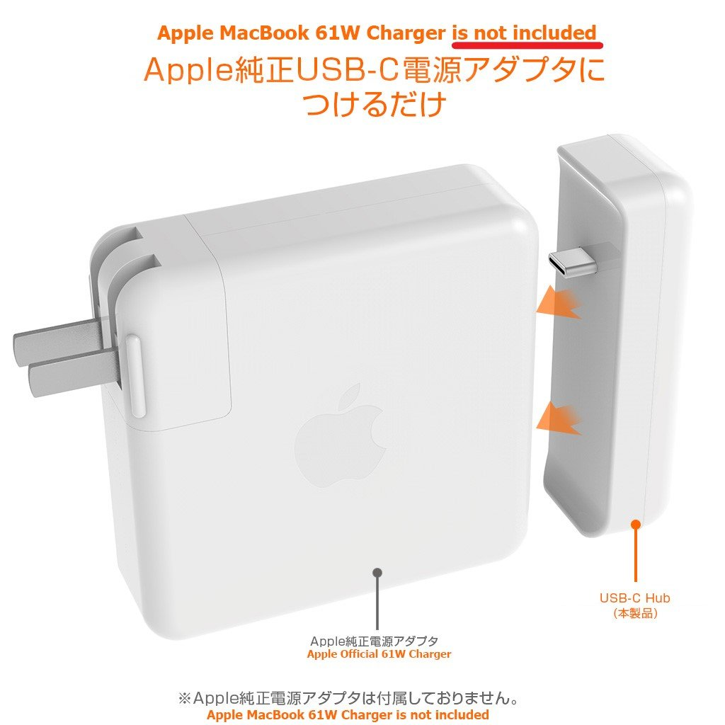 Power Adapter USB-C High-Speed-Charge-and-Sync Hub Works for 2016-2019 Release MacBook Pro 13-inch's 61W Charger 0
