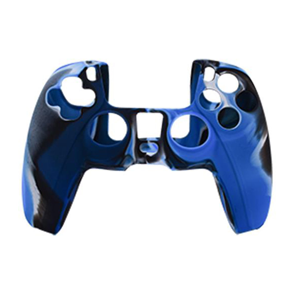 Anti-Slip Silicone Skin Case for PS5 DualSense Controller Combat Blue