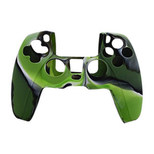 Anti-Slip Silicone Skin Case for PS5 DualSense Controller Combat Green