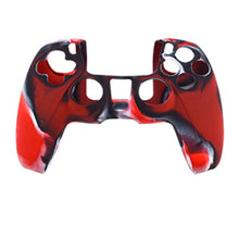 Load image into Gallery viewer, Anti-Slip Silicone Skin Case for PS5 DualSense Controller Combat Red 0