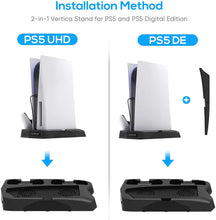 Load image into Gallery viewer, Bedroom Decor for PS5 Playstation 5 Console Cooling Stand Charging Station 4