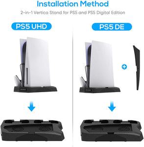 Bedroom Decor for PS5 Playstation 5 Console Cooling Stand Charging Station 4