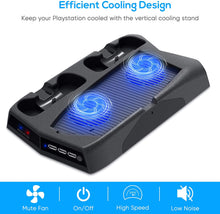 Load image into Gallery viewer, Bedroom Decor for PS5 Playstation 5 Console Cooling Stand Charging Station 2