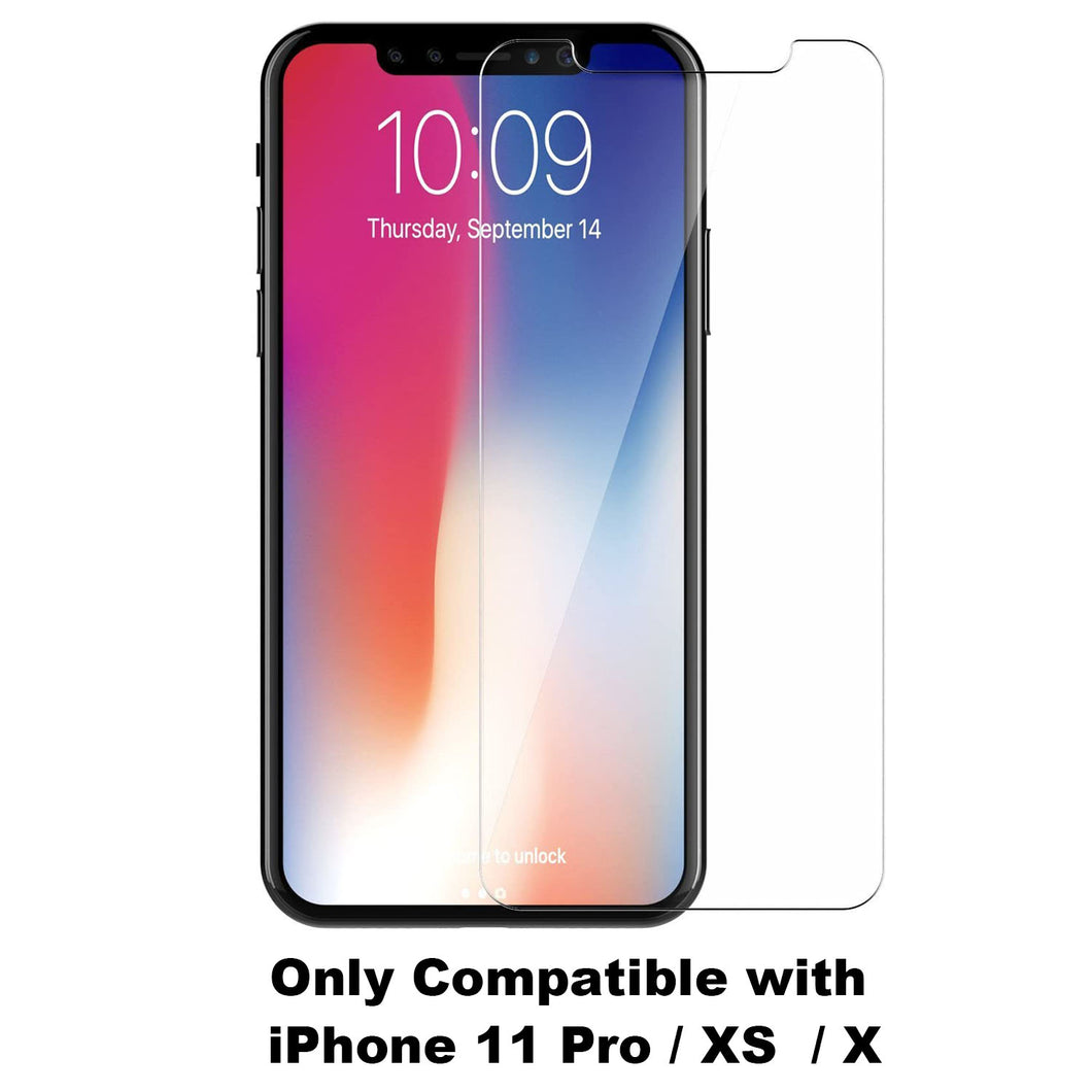 5.8 Inch Full Cover Tempered Glass Screen Protector for iPhone 11 Pro, XS, X