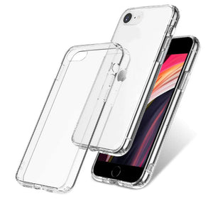Crystal Slim Anti-Scratch Protective Case for iPhone SE 2020 Case and Screen Protector 0