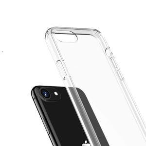 Crystal Slim Anti-Scratch Protective Case for iPhone SE 2020 Case and Screen Protector 8