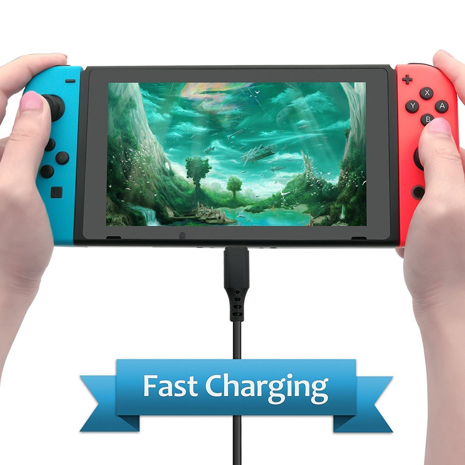 Games TV Mode Supports Dual-Voltage AC Charger for Nintendo Switch 9