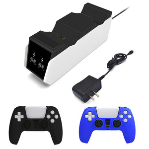 3 Hours Ultra Fast Charging PlayStation 5 Dock with AC Adapter for PS5 DualSense Controllers 0