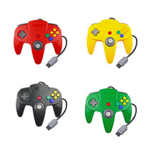 Load image into Gallery viewer, Family 4 Pack 1.8m/6FT Nintendo Retro N64 Controllers, Red, Yellow, Black, White, Green 0