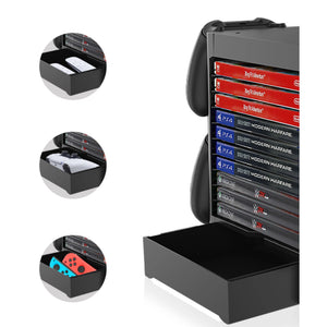 Game Room Decor Gaming Storage Tower Stand for Playstation PS5, Xbox X 1