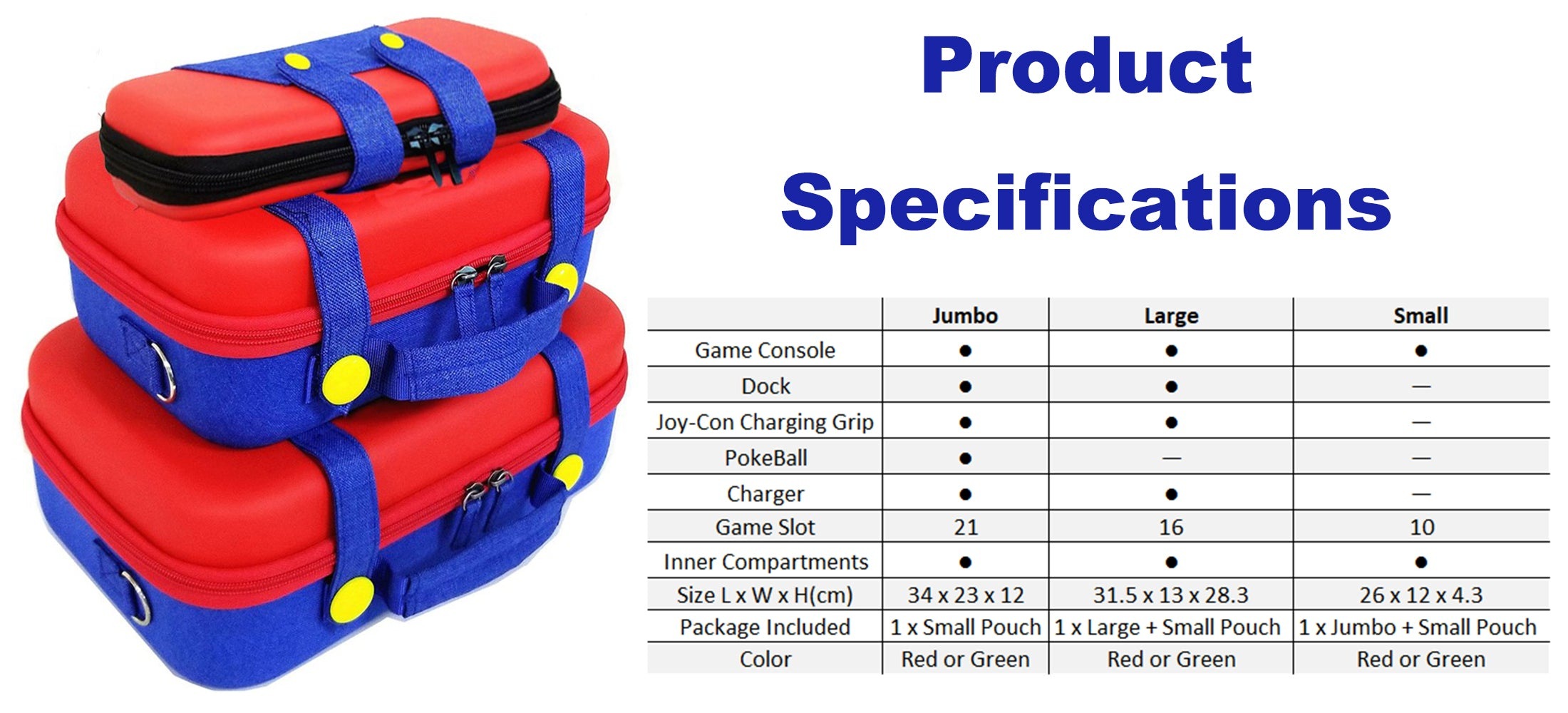 Mario Denim Pants Console Storage Case Product Specifications