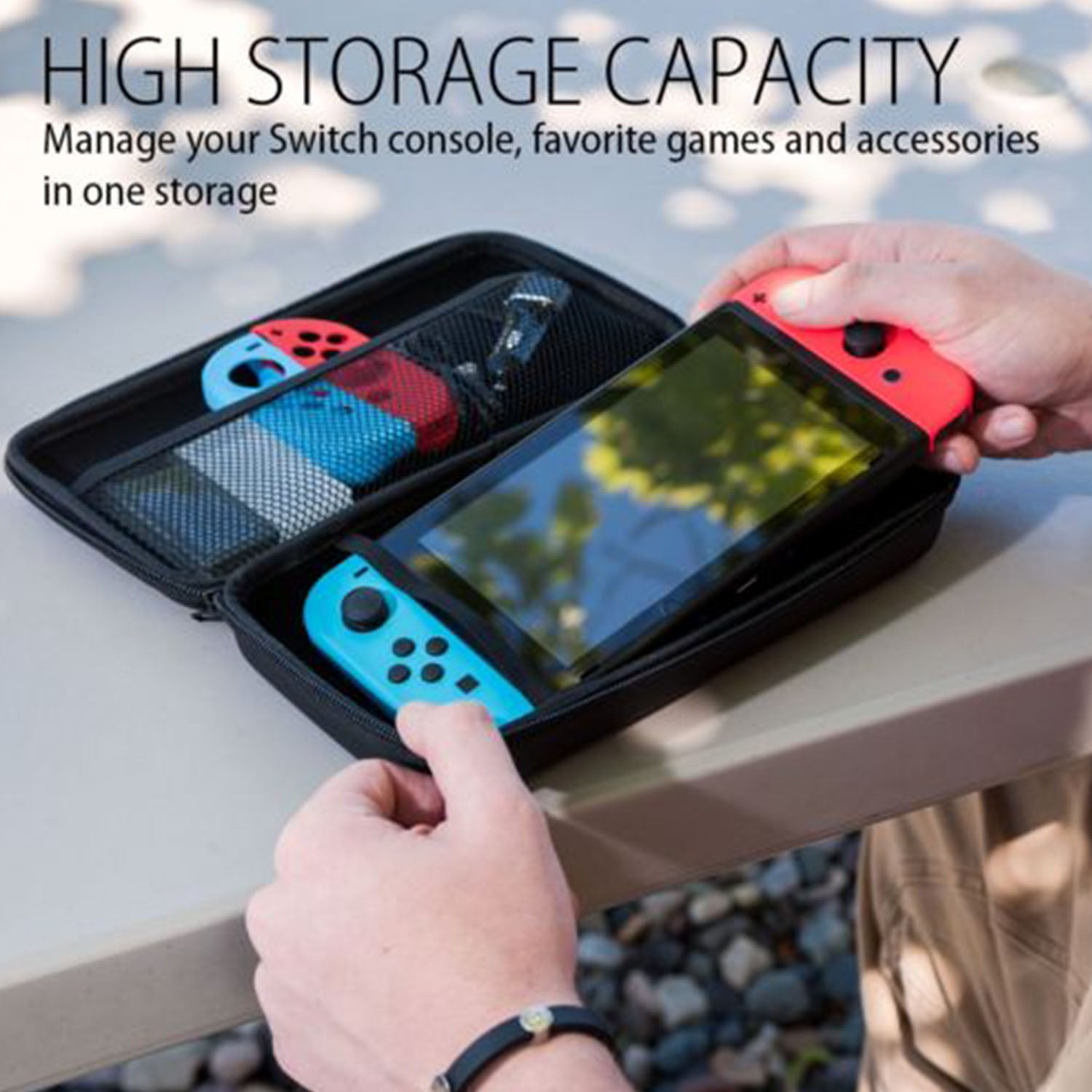 Portable Games Pouch with 18 Game Card Holders for Nintendo Switch 6