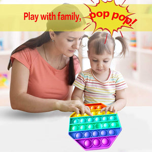 Octagon Push Pop It Sensory Fidget Toys Stress Relieve Fidgetget for Anxiety Relief Educational Toys for Special Needs Kids and Family, Perfect Sensory Fidget for Autistic, ADHD, Autism to Help Focus