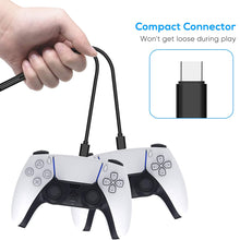 Load image into Gallery viewer, 10 FT PS5 USB C Cable Fast Charging for PlayStation Xbox X Controllers 8