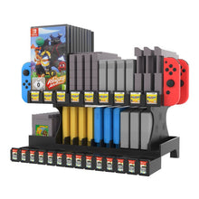 Load image into Gallery viewer, Retro Nintendo SNES N64 Game Storage Tower with Amiibo Display Rack 1
