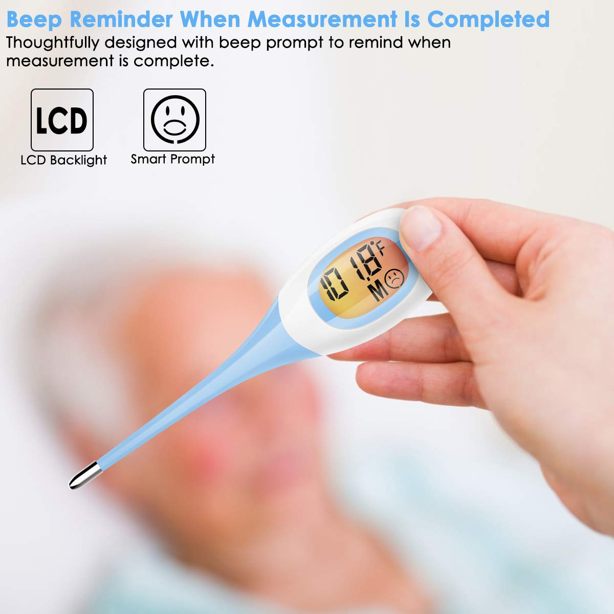 Soft Head Oral Digital Thermometer Blue