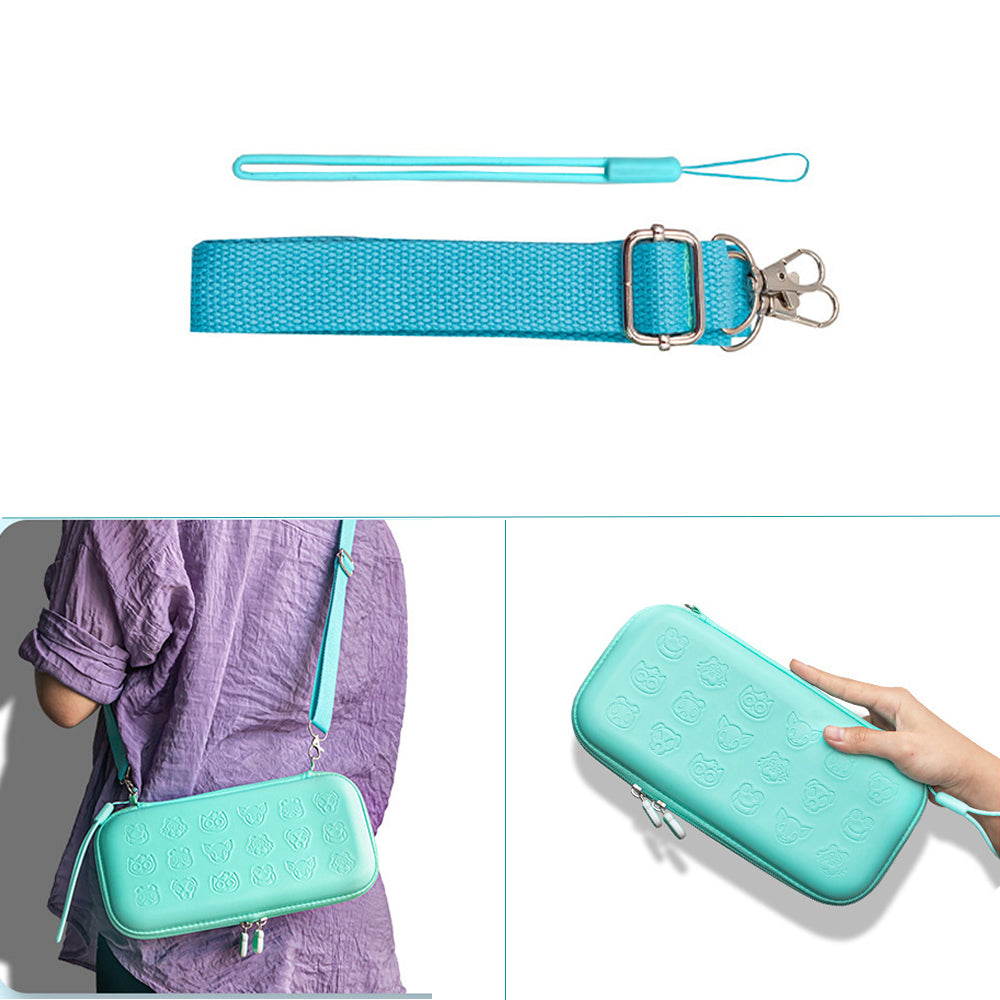 Turquoise Protective Hard Shell Travel Carrying Storage Case with Grips for Nintendo Switch Lite 5