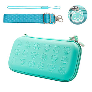 Turquoise Protective Hard Shell Travel Carrying Storage Case with Grips for Nintendo Switch Lite 7