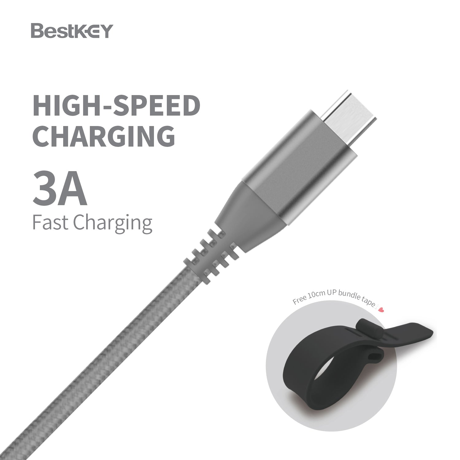 BestKey 3.9 FT Long USB Type C to Type A 3.1 Gen2 Charger Cable 1.2m Grey Nintendo Switch Android Blue 4