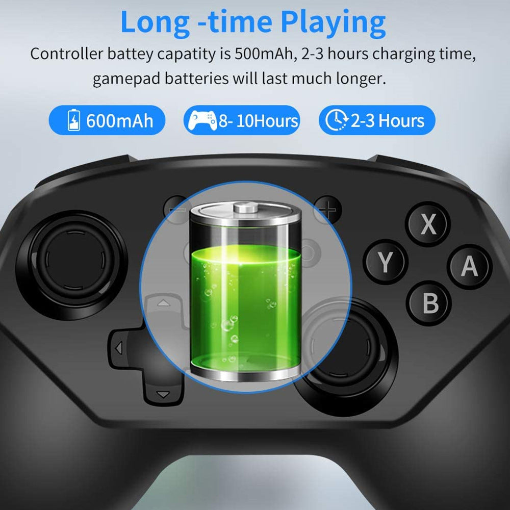 Wireless Controller for Nintendo Switch Lite, Android Bluetooth Controllers Gamepad Pro Controller with Turbo, 6 Axis and Dual Vibration 2