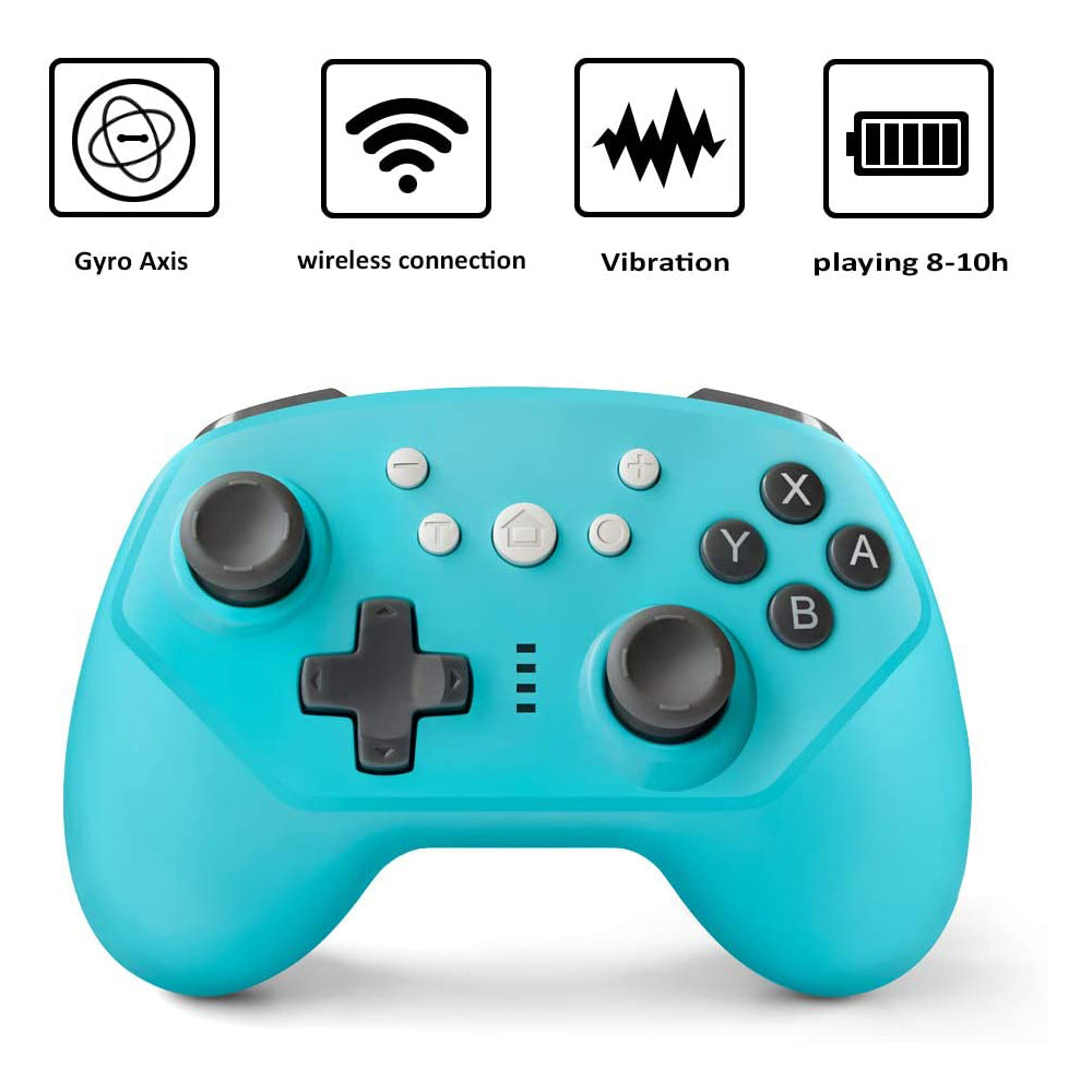 Wireless Controller for Nintendo Switch Lite, Android Bluetooth Controllers Gamepad Pro Controller with Turbo, 6 Axis and Dual Vibration Blue 1