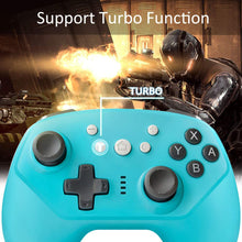 Load image into Gallery viewer, Wireless Controller for Nintendo Switch Lite, Android Bluetooth Controllers Gamepad Pro Controller with Turbo, 6 Axis and Dual Vibration Blue 3