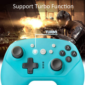 Wireless Controller for Nintendo Switch Lite, Android Bluetooth Controllers Gamepad Pro Controller with Turbo, 6 Axis and Dual Vibration Blue 3