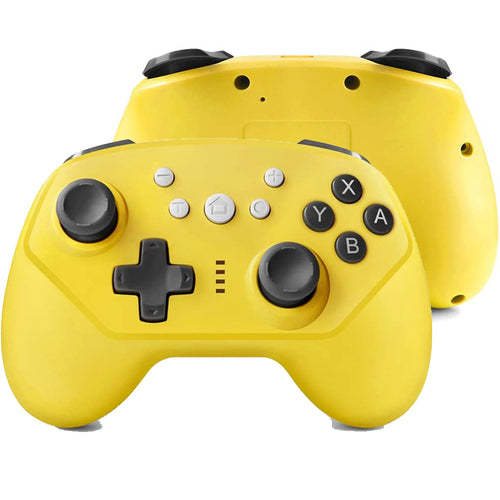 Wireless Controller for Nintendo Switch Lite, Android Bluetooth Controllers Gamepad Pro Controller with Turbo, 6 Axis and Dual Vibration Yellow 0