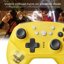 Load image into Gallery viewer, Wireless Controller for Nintendo Switch Lite, Android Bluetooth Controllers Gamepad Pro Controller with Turbo, 6 Axis and Dual Vibration Yellow 4