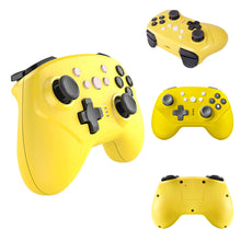 Load image into Gallery viewer, Wireless Controller for Nintendo Switch Lite, Android Bluetooth Controllers Gamepad Pro Controller with Turbo, 6 Axis and Dual Vibration Yellow 3