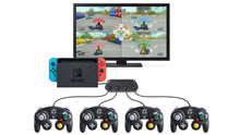 Load image into Gallery viewer, 4 Ports Gamecube Controller Adapter for Nintendo Switch