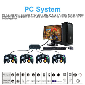4 Ports Gamecube Controller Adapter for Nintendo Switch