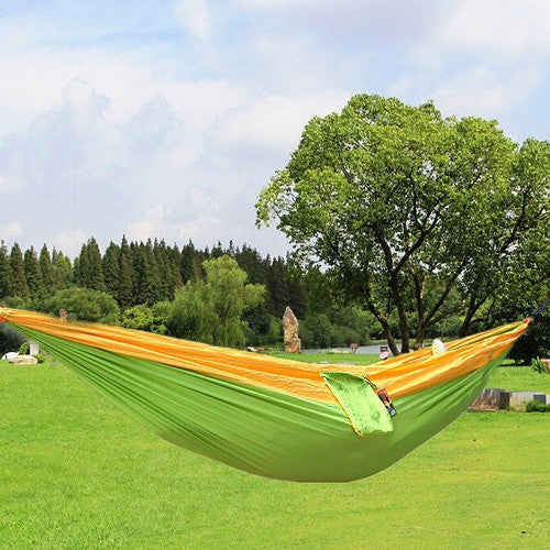 outdoor camping. Contemporary Outdoor Blue U0026 Yellow Parachute Outdoor Camping Hammocks And