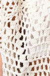 Diamond Knit Fringe Cardigan
