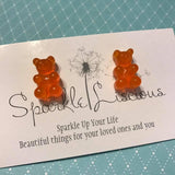 gummi bear stud earrings (assorted colours)